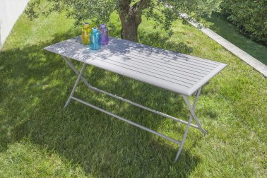 Table pliante taupe - Jardinerie Villaverde