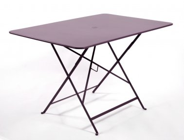 Bistro table pliante 117x77 cm aubergine - Jardinerie Villaverde